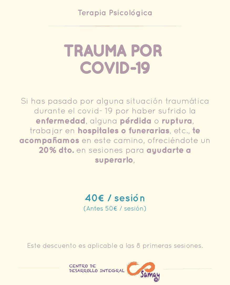 Cartel para superar trauma covid-19